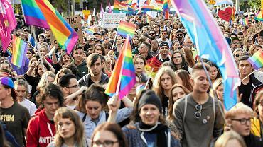 Wrzesień 2019. Uczestnicy Marszu Równości w Lublinie