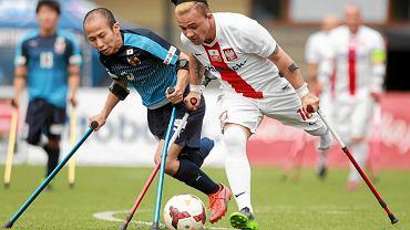 Bartosz Łastowski w meczu Polska - Japonia w ramach Ampfutbol Cup (Polska wygrała 6:1)
