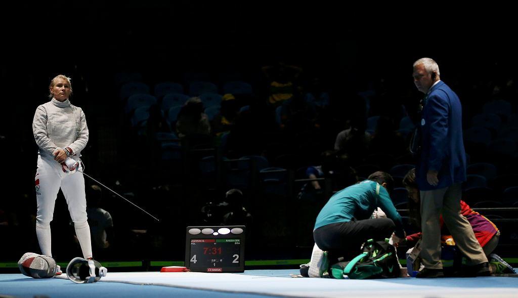 Bogna Jóźwiak w walce na igrzyskach w Rio de Janeiro
