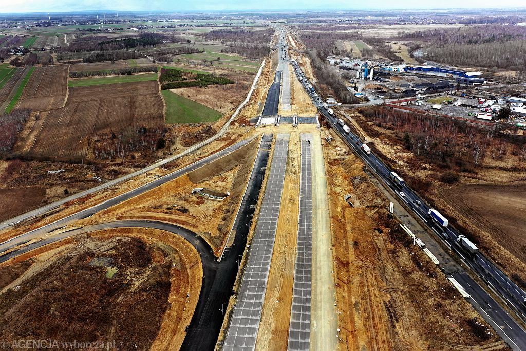 Budowa odcinka autostrady A1 - węzła Rząsawy