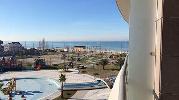 Widok z okna hotelowego w Soczi