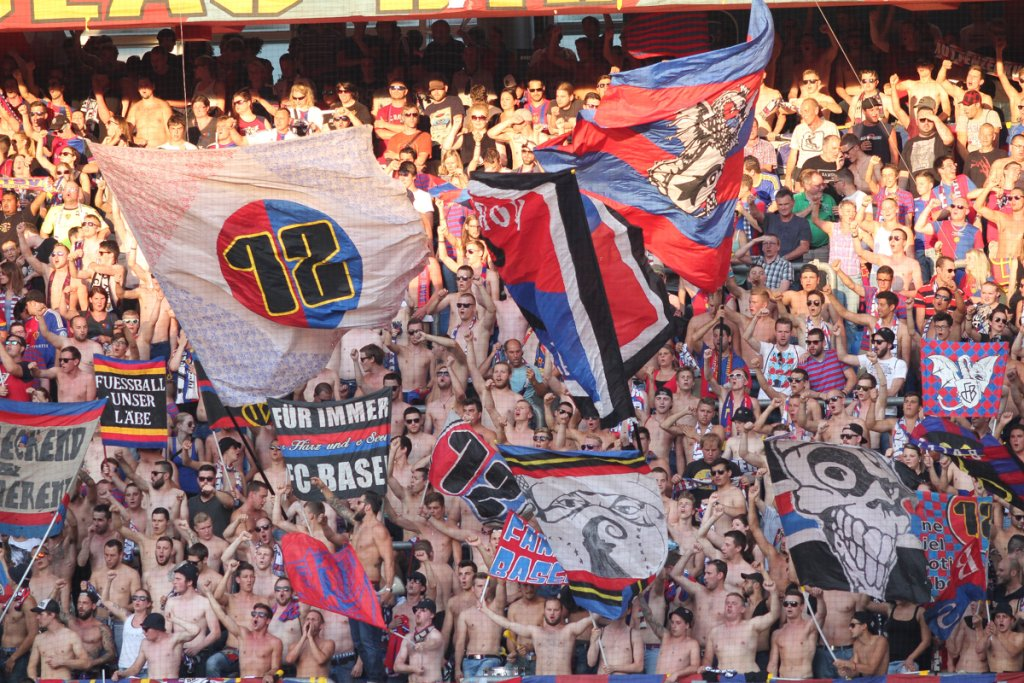 FC Basel - Lech Poznań 1:0 w III rundzie eliminacji do Ligi Mistrzów. Kibice FC Basel