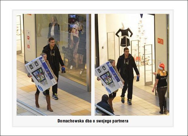 Marta Domachowska i Jerzy Janowicz kupują telewizor