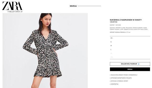 Sukienka marki Zara
