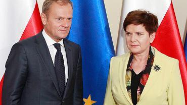 Spotkanie premier Beaty Szydło z szefem Rady Europejskiej Donaldem Tuskiem