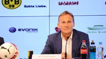 Hans Joachim Watzke ( z prawej) szef Borussii Dortmund