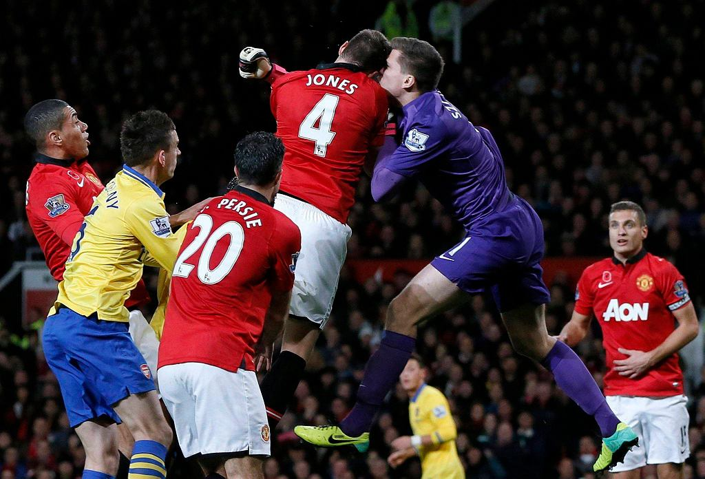 Wojciech Szczęsny w meczu Manchester United - Arsenal