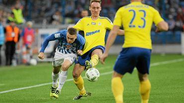 Lech Poznań - Arka Gdynia 0:0.  Maciej Gajos i Adam Marciniak