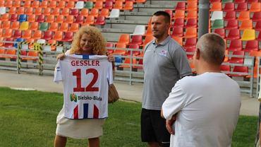 Magda Gessler i trener Leszek Ojrzyński