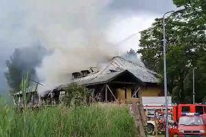Pożar dawnej restauracji nad Balatonem w Sosnowcu