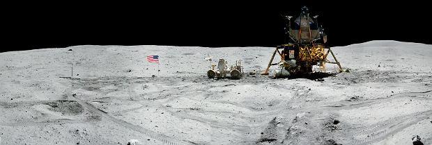 Zdjęcia zrobione na Księżycu podczas misji Apollo