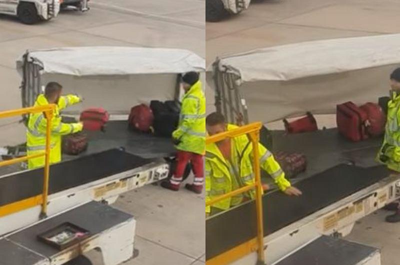 Nagrała, jak na lotnisku w Manchesterze traktuje się bagaże. Walizki dosłownie latały w powietrzu