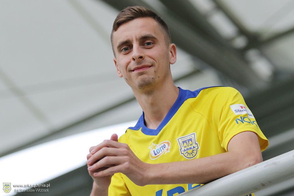 Juliusz Letniowski już jako piłkarz Arki Gdynia (wypożyczony z Lecha Poznań na sezon 2020/2021)
