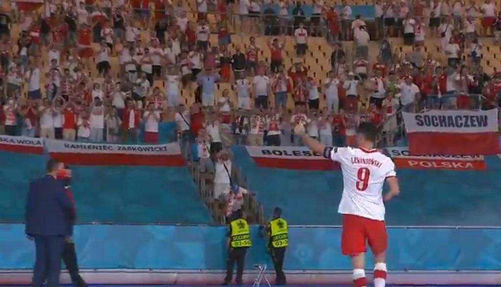 Robert Lewandowski dziękuje kibicom za doping