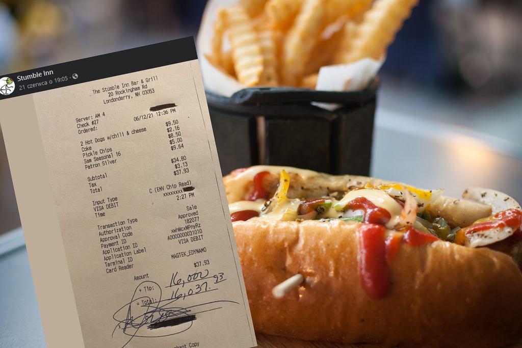 Ponad 16 tysięcy dolarów za obiad dla jednej osoby? Klient zostawił rekordowy napiwek