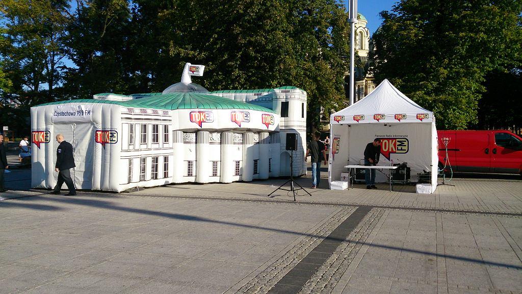 Dmuchany Sejm TOK FM w Szczecinie