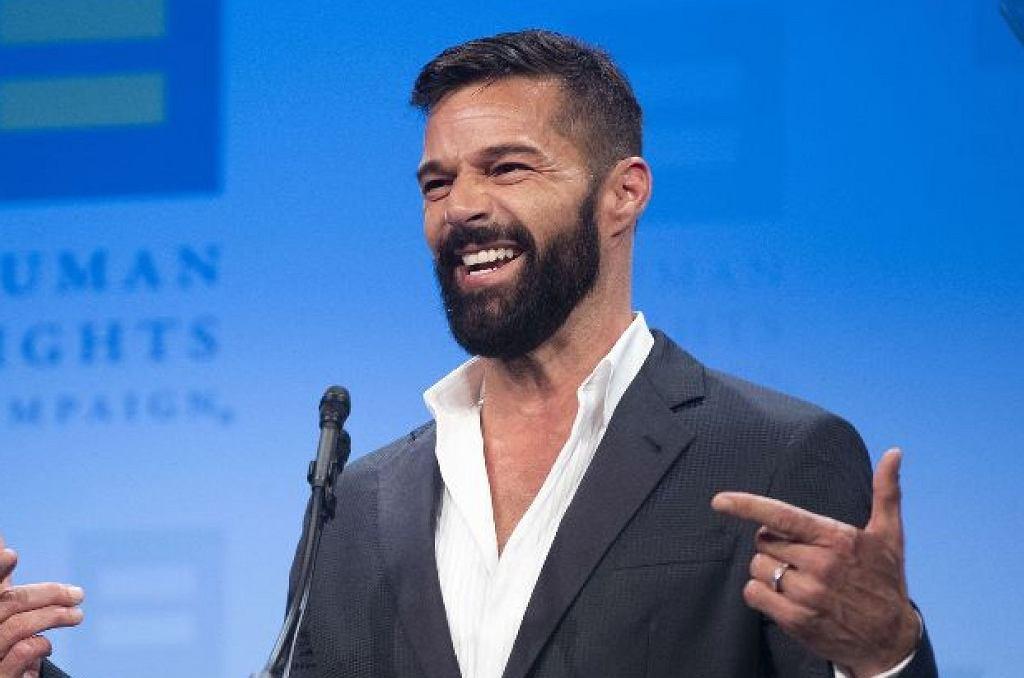 Ricky Martin z rodziną na gali Human Rights