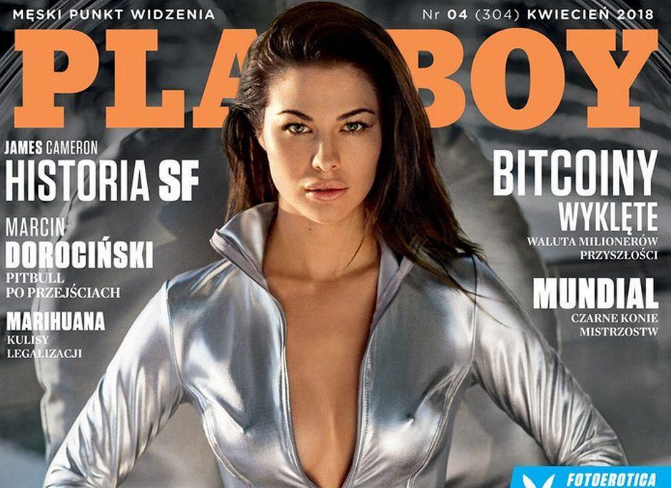 Okładka kwietniowego wydania magazynu 'Playboy'