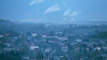 Rybnik, smog nad miastem