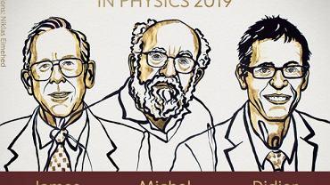 Nagrodę Nobla z fizyki otrzymali: James Peebles, Michel Mayor i Didier Queloz