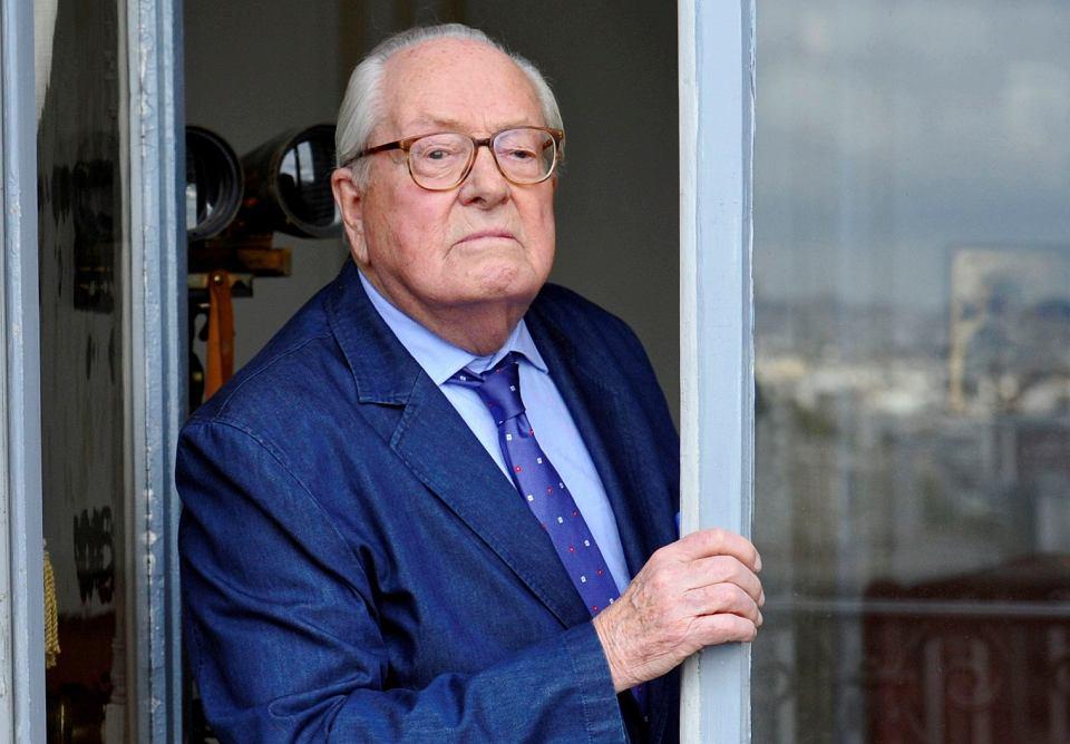 Jean-Marie Le Pen w swoim biurze, Domaine de Montretout, Saint-Cloud, 12 października 2017 r.