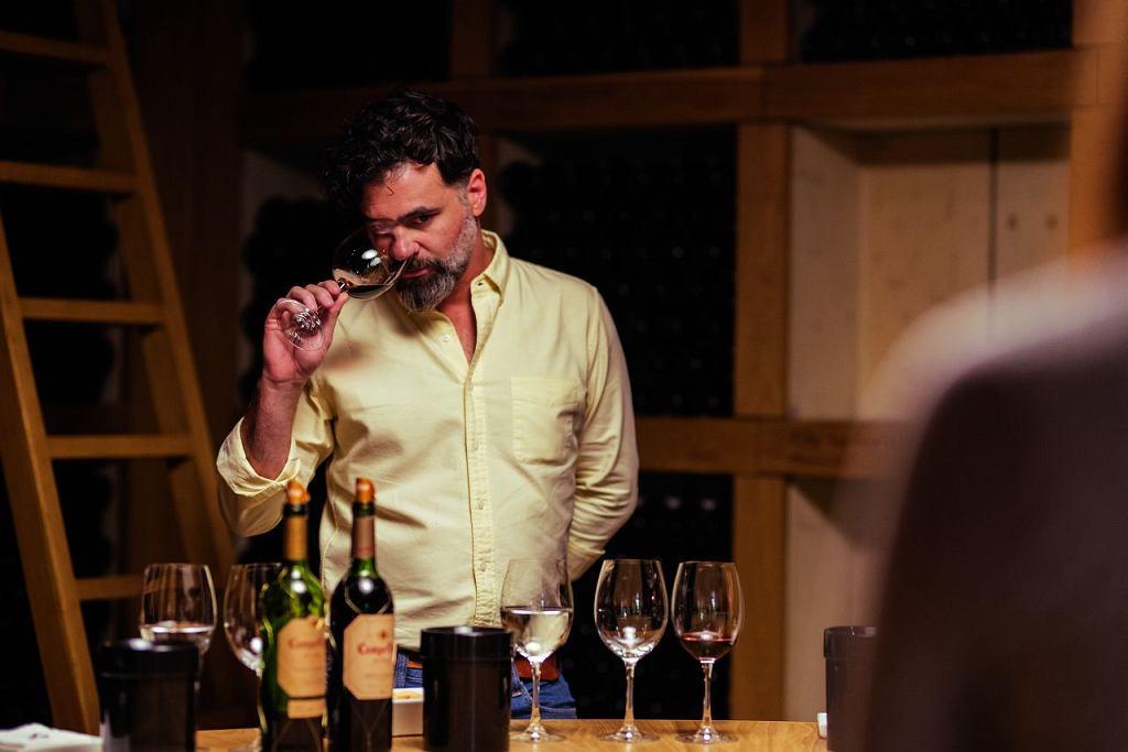 Federico Lleonart, ambasador wina Campo Viejo, podczas degustacji starzonych win Gran Reserva (patrz ramka niżej) z najlepszych roczników.