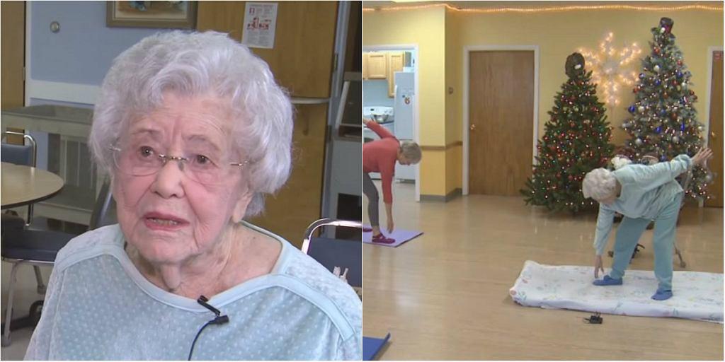 Ma 105 lat i co weekend prowadzi zajęcia z jogi