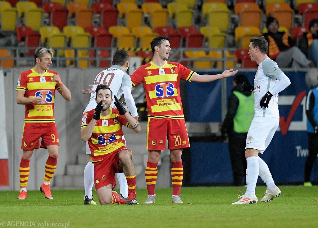 Jagiellonia Białystok na własnym stadionie przegrała z Zagłębiem Lubin 0:4
