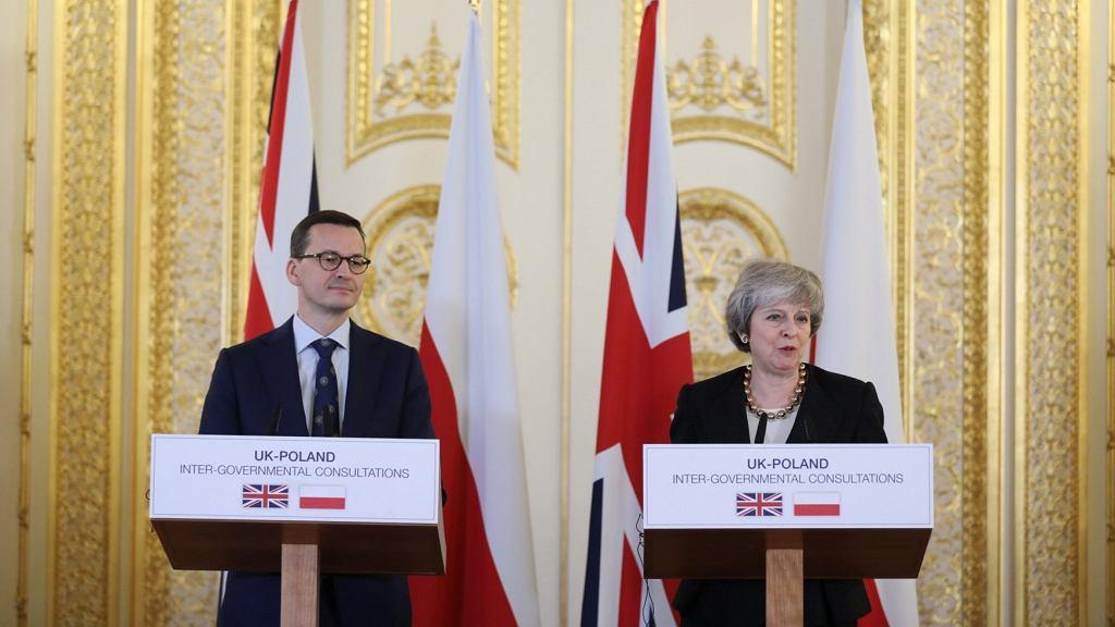 Konferencja premiera Mateusza Morawieckiego i premier Wielkiej Brytanii Theresy May