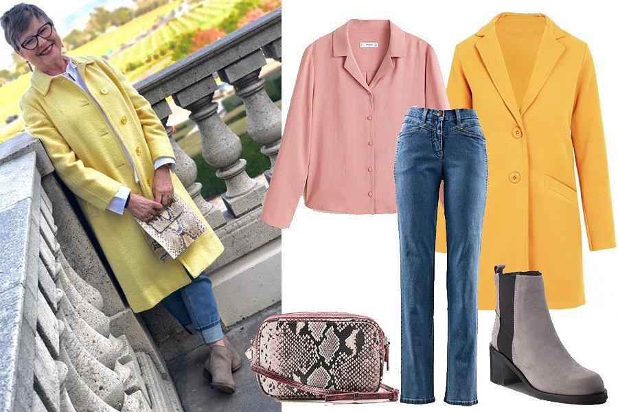 Wystarczy jeden kolor element garderoby, na przykład piękny żółty płaszcz