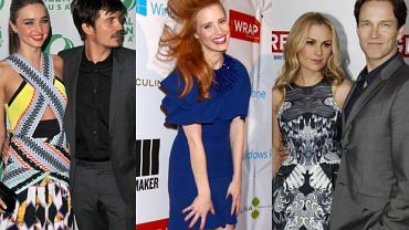 Miranda Kerr, Orlando Bloom, Jessica Chastain, Anna Paquin i Stephen Moyer.