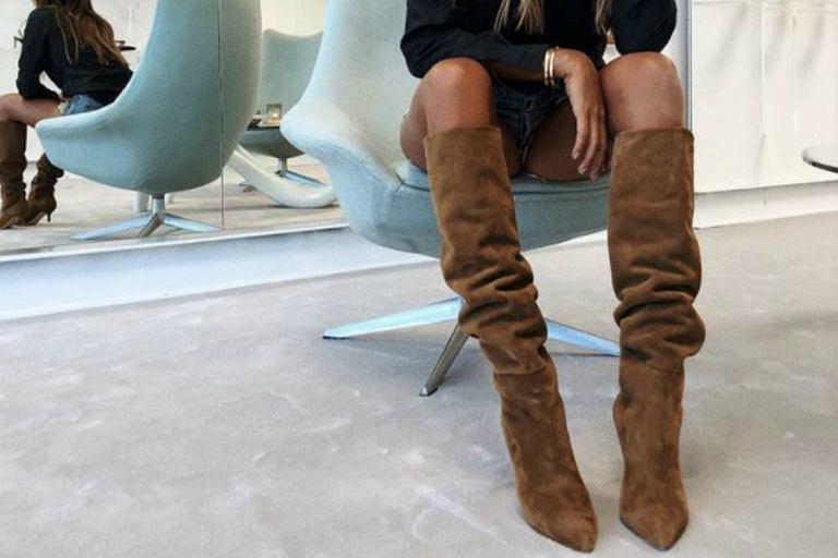 Stylowe buty na zimę w odcieniu camel