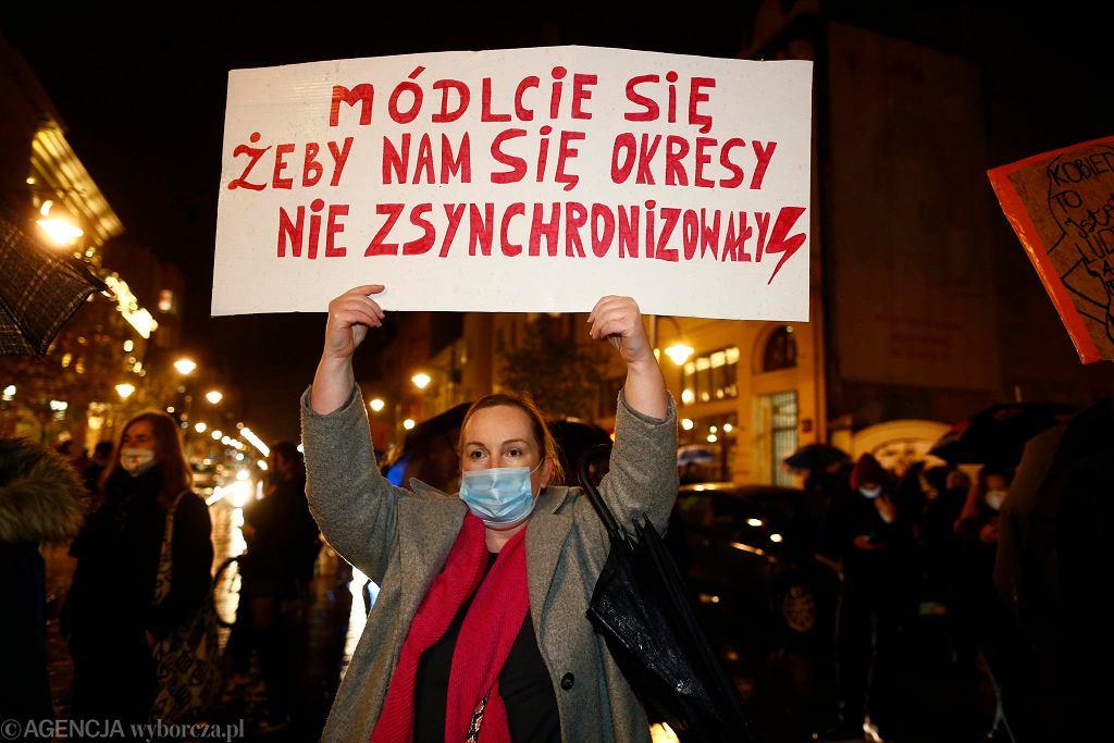 29.10.2020. Strajk kobiet w Łodzi - dzień ósmy.