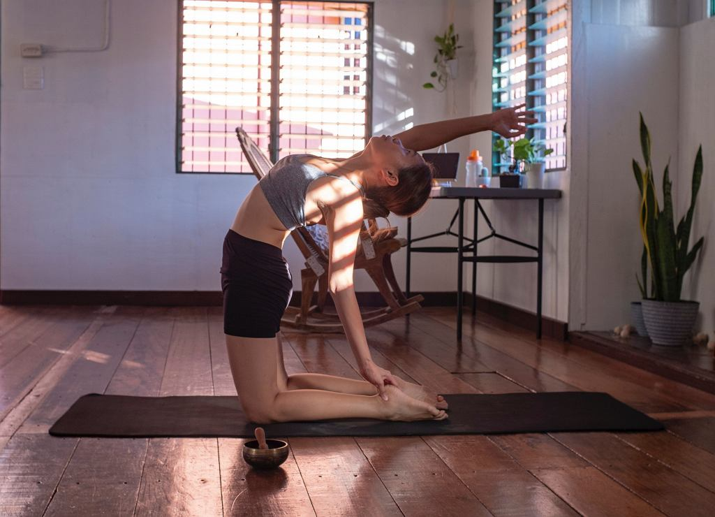 trening z bloczkiem do jogi