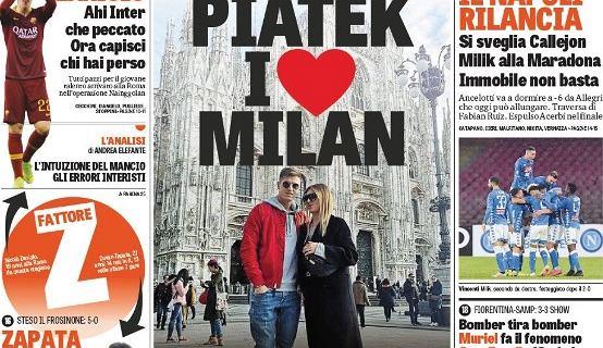 Milik i Piątek na okładkach włoskich gazet