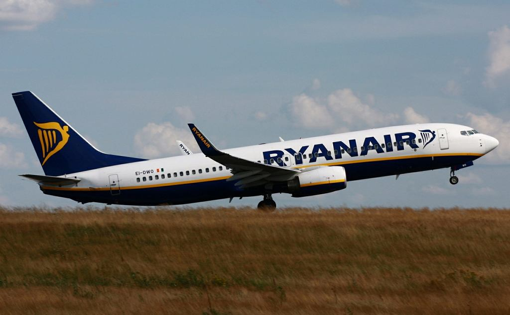 Samolot linii Ryanair (zdjęcie ilustracyjne)