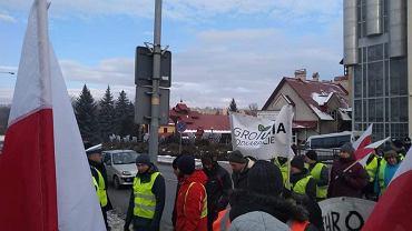 Protest rolników. DK11 zablokowana w kierunku Środy Wielkopolskiej