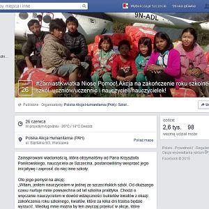"""Print screen wydarzenia """"zamiast kwiatka..."""" na Facebooku"""