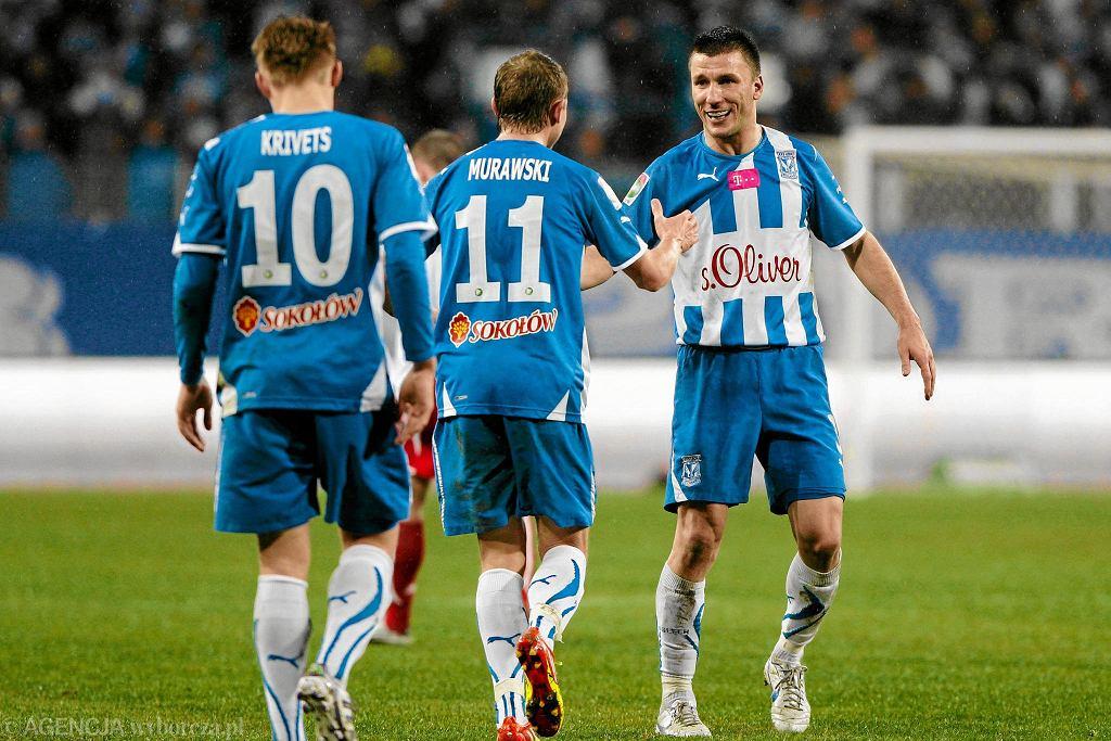 Ivan Djurdjević jeszcze jako piłkarz w meczu Lecha Poznań z ŁKS Łódź