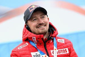 Adam Małysz podczas serii kwalifikacyjnej na skoczni HS 130 na Mistrzostwach Świata w narciarstwie klasycznym w Seefeld w Austrii.
