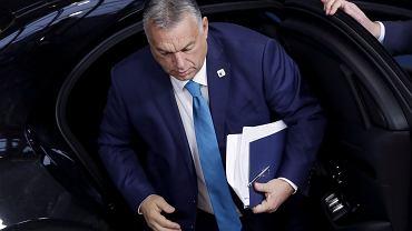 Premier Węgier Viktor Orban podczas szczytu UE w Brukseli, 16 października 2020