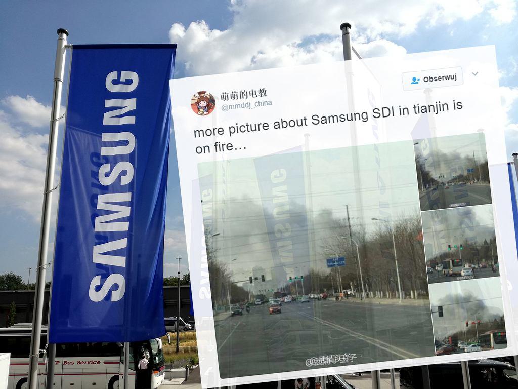 Pożar w fabryce Samsung SDI