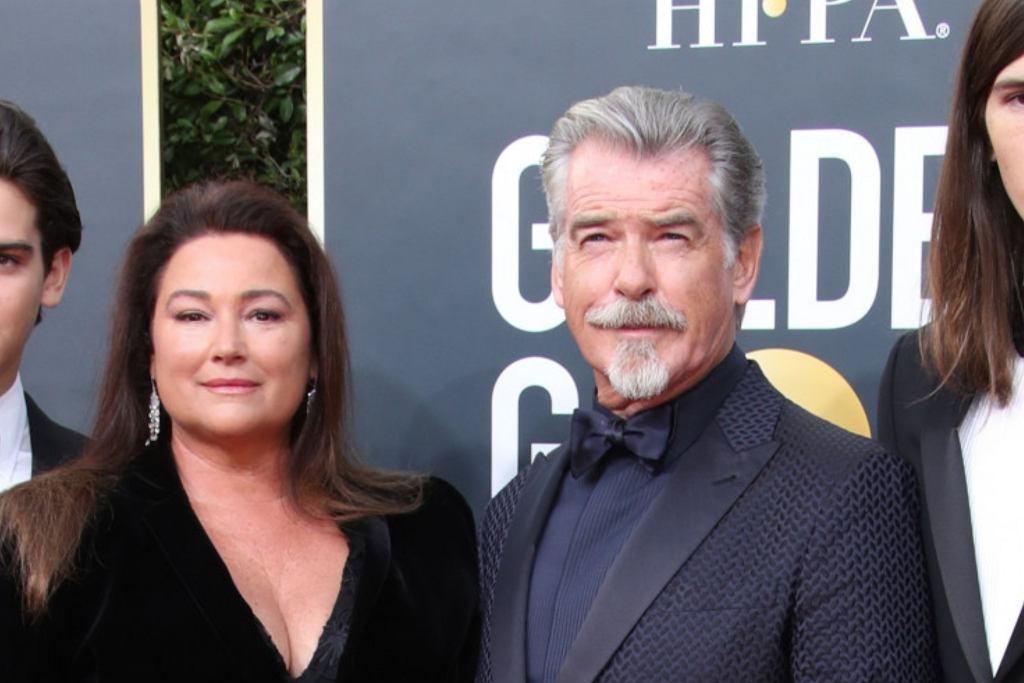 Pierce Brosnan z rodziną na Złotych Globach