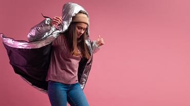 8Trendy,Autumn,And,Winter,Clothing,,Studio,Shot,On,A,Pink