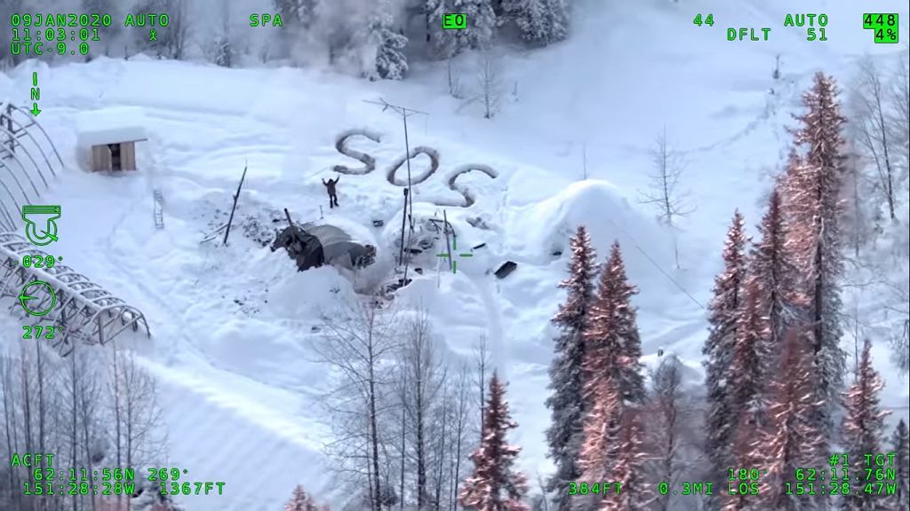 Alaska. 30-latek przetrwał trzy tygodnie na zaśnieżonym pustkowiu, po tym jak jego domek spłonął w pożarze