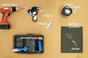 DIY: Pojemnik na zabawki dekorowany farbą tablicową