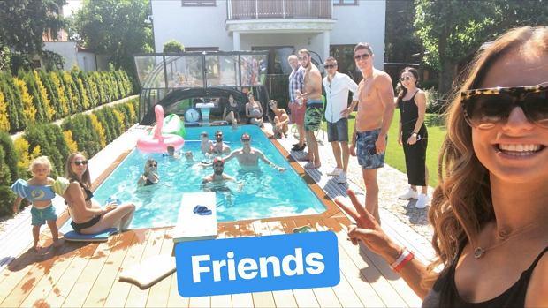Impreza nad basenem u Lewandowskich tuż przed Mundialem