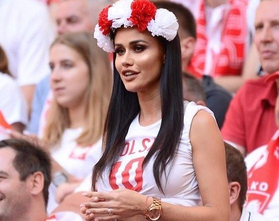 Karolina Emus na meczu Polska-Litwa
