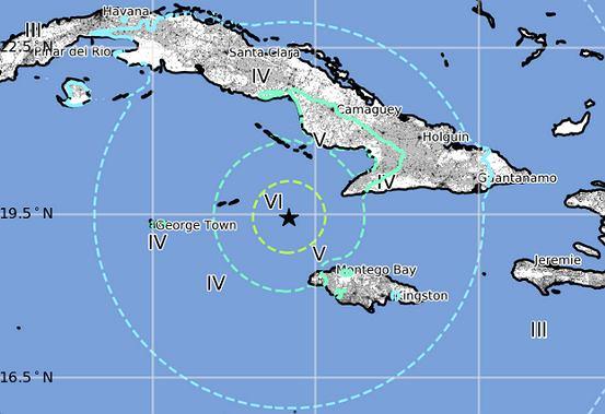 Trzęsienie ziemi na Karaibach.