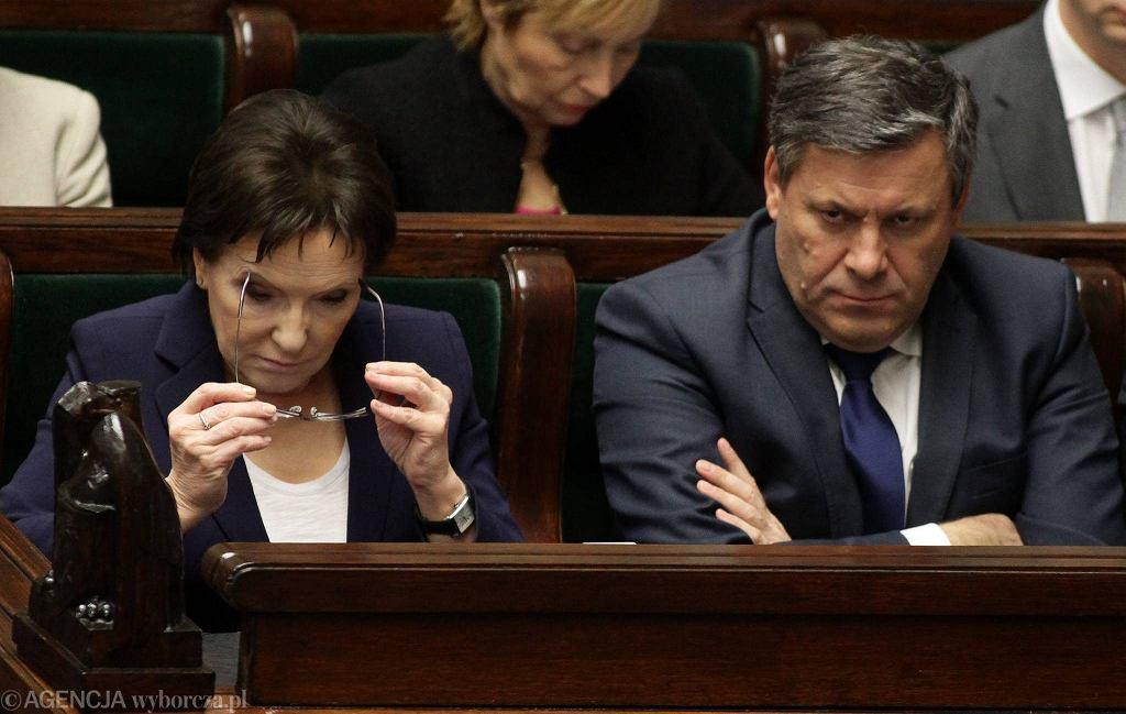 Ewa Kopacz i Janusz Piechociński podczas głosowań